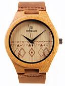 رخيصةأون ساعات النساء-للمرأة ساعة المعصم ياباني كوارتز خشبي جلد فرقة مماثل سحر بني