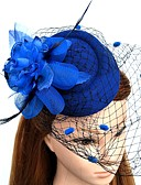 cheap Fashion Hats-Feather / Net Fascinators / Flowers / Hats with Floral 1pc Wedding / Special Occasion Headpiece