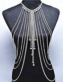 ieftine Bluză-Cristal Franjuri Corp lanț / burtă lanț - Cristal Plin de graţie, Boem, Natură Pentru femei Auriu / Argintiu Bijuterii de corp Pentru Ocazie specială / Cadou / Casual