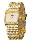 billige Damedunjakker og anorakker-ASJ Dame Damer Armbåndsur Japansk Guld Imiteret Diamant Analog Luksus Glitrende Mode Elegant - Hvid Sort