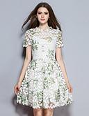 povoljno Ženske haljine-Žene Izlasci A kroj Haljina Cvjetni print Iznad koljena