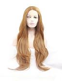 preiswerte Hochzeitskleider-Synthetische Lace Front Perücken Natürlich gewellt Blond Synthetische Haare Natürlicher Haaransatz / Mittelscheitel Blond Perücke Damen Lang Spitzenfront Rotblond