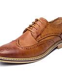 levne Tričko-Pánské Obuv PU Léto / Podzim Bullock boty / Společenské boty Oxfordské Černá / Šedá / Hnědá / Party / Bullock Shoes