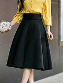 cheap Women's Blazers-Women's Going out Street chic Plus Size A Line Skirts - Solid Colored High Waist