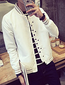 cheap Men's Jackets & Coats-Men's Business / Daily / Office & Career Fashion Spring Regular Jacket, Other Stand Long Sleeve N / A Green / White / Navy Blue XXXL / XXXXL / XXXXXL / Double Breasted