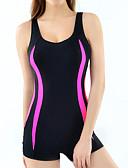 رخيصةأون ملابس السباحة والبيكيني 2017 للنساء-M L XL مخطط, ملابس السباحة قعطة واحدة أسود قبة مرتفعة حول الرقبة صلب ستايل رياضي نسائي