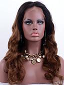 זול הינומות חתונה-שיער ראמי תחרה מלאה פאה גלי משוחרר Ombre פאה 130% שיער אומבר / שיער טבעי / פאה אפרו-אמריקאית Ombre בגדי ריקוד נשים קצר / בינוני / ארוך פיאות תחרה משיער אנושי / 100% קשירה ידנית