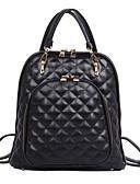 رخيصةأون فساتين الاشبينات-للمرأة أكياس PU حقيبة ظهر سحاب هندسي أبيض / أسود
