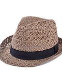 abordables Sombreros de mujer-Mujer Sombrero de Paja - Vintage Un Color / Verano