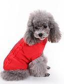 voordelige Damesjassen & trenchcoats-Kat Hond Truien Hondenkleding Effen Rood Groen Roze Lichtblauw Marine Blauw Katoen Kostuum Voor huisdieren Heren Dames Klassiek Houd Warm