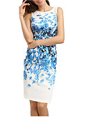 cheap Women's Dresses-Women's Going out Sophisticated Sheath Dress - Floral White, Print / Spring / Summer / Floral Patterns / Slim