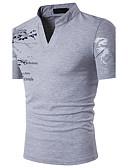 זול חולצות פולו לגברים-גראפי עומד רזה פעיל כותנה, Polo - בגדי ריקוד גברים דפוס / שרוולים קצרים