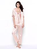 abordables Pijamas para Mujer-Mujer Traje Satén y Seda Bata Lencería de Encaje Babydoll y Slip Ropa de dormir - Sexy, Jacquard