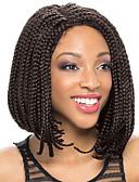 olcso Női hosszú kabátok és parkák-Szintetikus csipke front parókák Női Fekete Bob frizura Szintetikus haj Természetes hajszálvonal / Oldalsó rész / Afro-amerikai paróka Fekete Paróka Rövid Csipke eleje Lila Fekete / Medium Auburn