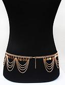 ieftine Bluză-Franjuri Lanț de Talie Vintage, Boem, Modă Pentru femei Roz auriu Bijuterii de corp Pentru Ocazie specială / Casual