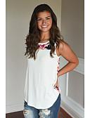 baratos Camisas Femininas-Mulheres Malha Íntima Estilo Floral, Outro