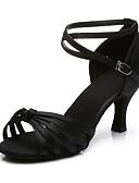preiswerte Sexy Körper-Damen Schuhe für den lateinamerikanischen Tanz Stoff Sandalen / Absätze Schnalle Kubanischer Absatz Maßfertigung Tanzschuhe Dunkelbraun /