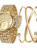 cheap Quartz Watches-Women's Wrist Watch Cool Stainless Steel Band Charm / Luxury / Sparkle Gold