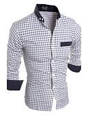 preiswerte Herrenhemden-Herrn Verziert Baumwolle Hemd, Umlegekragen