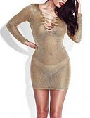 tanie Sukienki-Damskie Święto / Wyjściowe Seksowny Bodycon Sukienka - Solidne kolory, Wiązanie Nad kolano / Rurki / Super seksowny