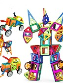 رخيصةأون قمصان نسائية-مكعبات مغناطيسية أحجار البناء ألعاب تربوية 96 pcs سيارة إنسان آلي مغناطيس للصبيان للفتيات ألعاب هدية