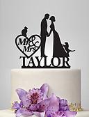 رخيصةأون ملابس داخلية وجوارب للرجال-كعكة توبر الحديقةGarden Theme / كلاسيكيClassic Theme / الحكايةFairytale Theme كلاسيكي زوجين أكريليك زفاف / الذكرى السنوية / مباركة عروس مع