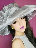 رخيصةأون قبعات نسائية-قبعة الدلو قبعة شمسية لون الصلبة عطلة - الأزهار ستايل بوليستر, جميل عطلة للمرأة