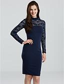 hesapli Kadın Elbiseleri-Kadın's Şık & Modern Kılıf Elbise - Solid, Modern Stil Diz-boyu