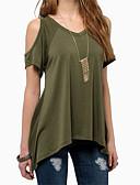 preiswerte T-Shirt-Damen Solide Strand T-shirt, V-Ausschnitt