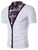 cheap Men's Polos-Men's Street chic Polo - Striped Shirt Collar