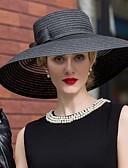 billige Hatter til damer-Tyll / Kurvevarer Hatter / Hodeplagg med Blomster 1pc Bryllup / Spesiell Leilighet / Avslappet Hodeplagg