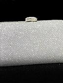 abordables Leggings para Mujer-Mujer Bolsos PU Bolso de Noche Cristal / Cristal Un Color Plata