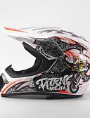 baratos Relógio Esportivo-mejia off-road motocicleta corrida capacete cheio rosto amortecedor durabilidade motorsport capacete branco / cor laranja