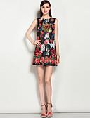 cheap Women's Dresses-Women's Going out / Beach Boho A Line Dress - Floral Sequins