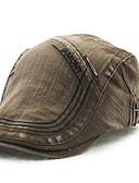 abordables Sombreros de  Moda-Hombre Algodón Boina Francesa - Activo Un Color