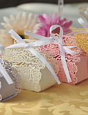 abordables Soportes para Regalo-Creativo Papel perlado Soporte para regalo  con Corbata de Lazo Cajas de regalos