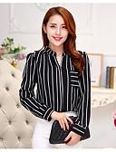 cheap Women's Shirts-Women's Shirt - Striped Shirt Collar / Fine Stripe