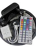 halpa Miesten housut ja shortsit-ZDM® 5m Joustavat LED-valonauhat / Valosetit / RGB-valonauhat LEDit 5050 SMD RGB Kauko-ohjain / Leikattava / Himmennettävissä 12 V / IP65 / Vedenkestävä / Yhdistettävä / Itsekiinnittyvä
