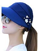 رخيصةأون فساتين طويلة-قبعة شمسية نسائي - طباعة قطن / الصيف