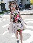 זול שמלות לבנות-שמלה כותנה חוטי זהורית קיץ ללא שרוולים יומי אחיד פרחוני הילדה של פרחוני בז'