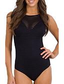 זול 2017ביקיני ובגדי ים-M L XL אחיד, בגדי ים חלק אחד (שלם) תחתונים לבן שחור אודם בגדי ריקוד נשים