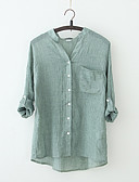 cheap Women's Blouses-Women's Going out Vintage Blouse - Solid Colored V Neck