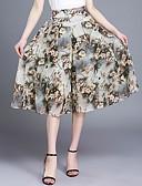 baratos Calças Femininas-Mulheres Tamanhos Grandes Cintura Alta Perna larga Chinos Calças Estampado