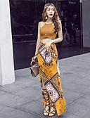 levne Dámské šaty-Dámské Cikánský Krátký top - Tisk, Grafika Sukně