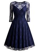 זול שמלות נשים-עד הברך תחרה, אחיד - שמלה סקייטר\מחליקה על הקרח מתוחכם בגדי ריקוד נשים