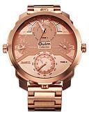 baratos Relógio Elegante-Homens Relógio de Pulso Relógio Militar Relógio Elegante Relógio de Moda Relógio Esportivo Quartzo Colorido Punk Três Fusos Horários Aço