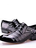 abordables Jerséis de Mujer-Hombre PU Primavera / Verano Zapatos formales Zapatos de taco bajo y Slip-On Negro
