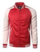 ieftine Maieu & Tricouri Bărbați-Bărbați Sport / Ieșire Activ / Șic Stradă Vară / Toamnă Regular Jachetă, Bloc Culoare Rotund Manșon Lung Altele Albastru piscină / Negru / Roșu-aprins L / XL / XXL