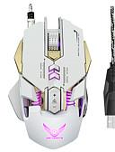 olcso Divatos fejdíszek-ZERODATE Vezetékes USB Gaming Mouse Optikai X300 7 pcs kulcsok Led lélegzetvilágítás 4 állítható DPI szint 7 programozható gomb 3200 dpi