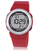 cheap Quartz Watches-Women's Sport Watch Smartwatch Digital 100 m Water Resistant / Water Proof Noctilucent Rubber Band Digital Charm White / Blue / Red - Purple Red Light Blue